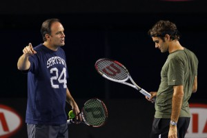 Roger Federer and Paul Annacone